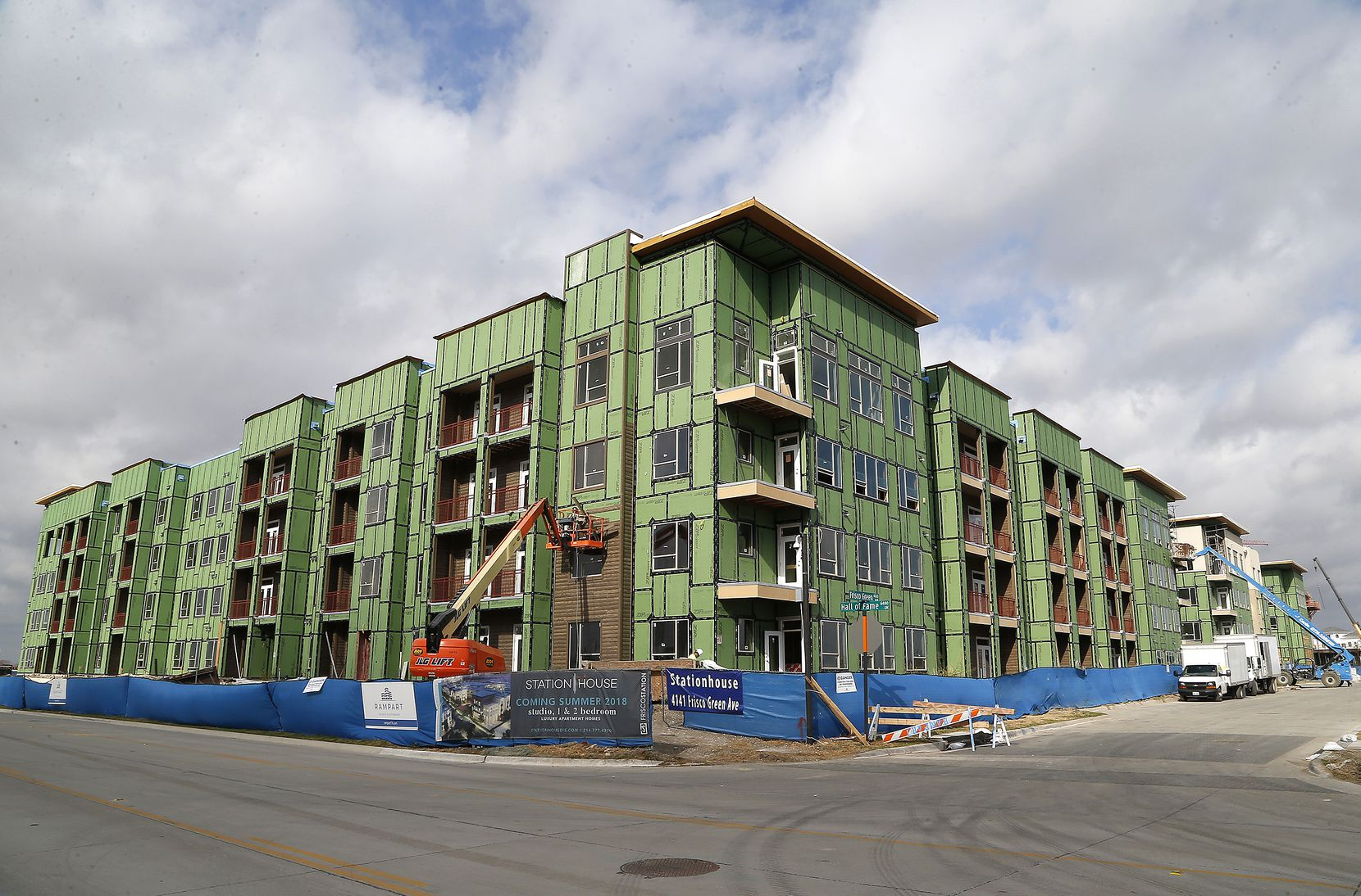 The Station House, part of the Frisco Station project, will open next year.