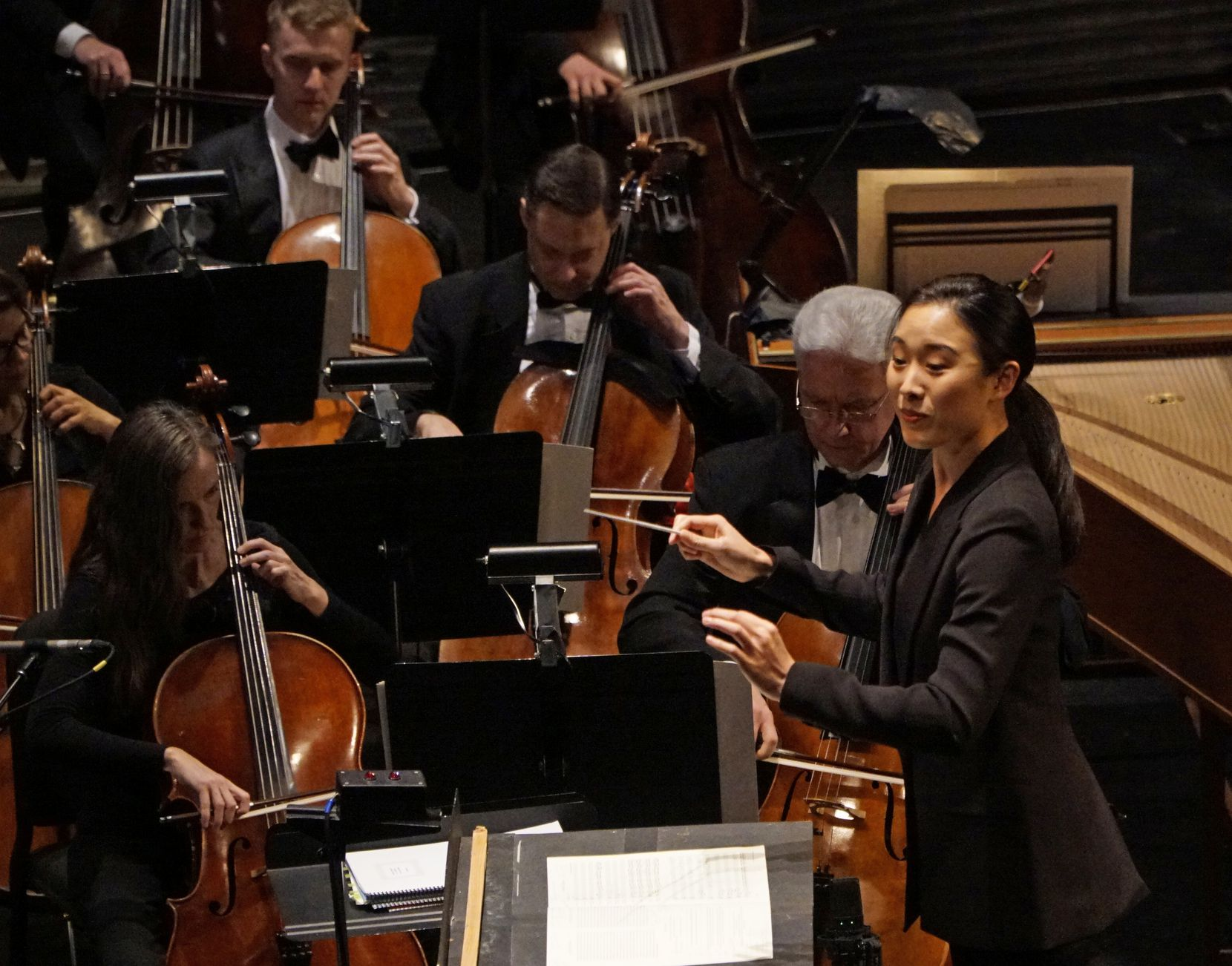 Jane Kim conducts the Dallas Opera Orchestra.