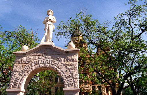 This year marks the 100th anniversary of the erection of the Confederate tribute statue on the south lawn of the Denton County Courthouse.
