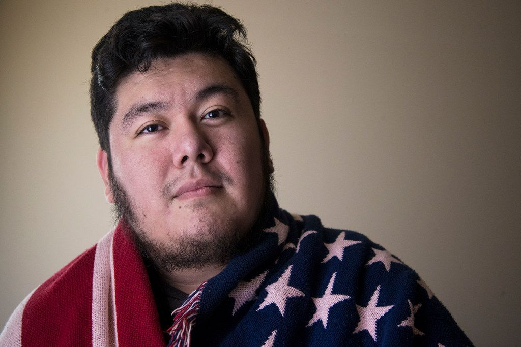DACA recipient Gabriel Estrada of Arlington poses for a photograph at his apartment on Nov. 15, 2018. Estrada came to the United States 19-years ago from Mexico City.