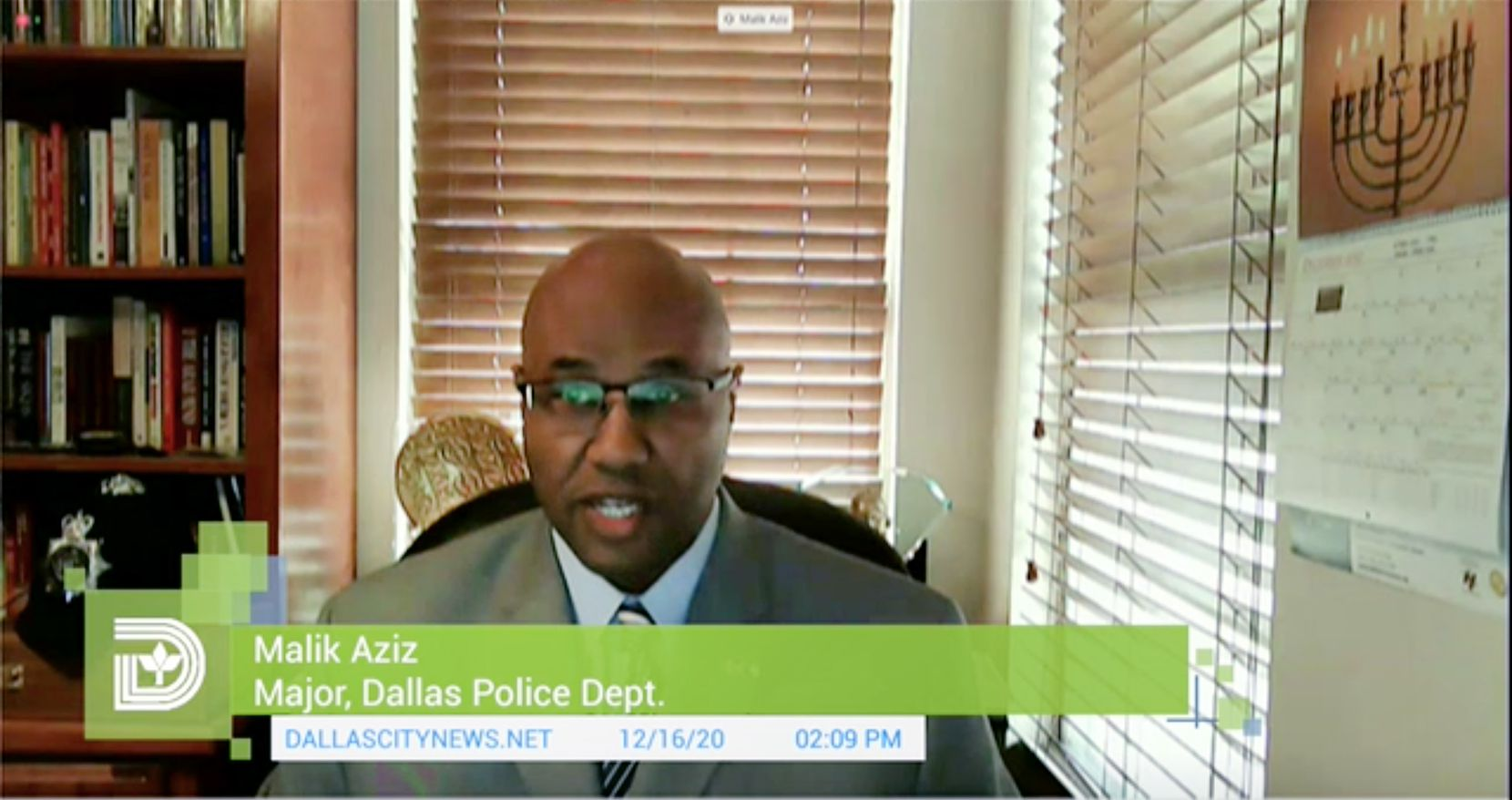 Dallas police chief candidate Malik Aziz, major in the Dallas Police Department (City of Dallas video)