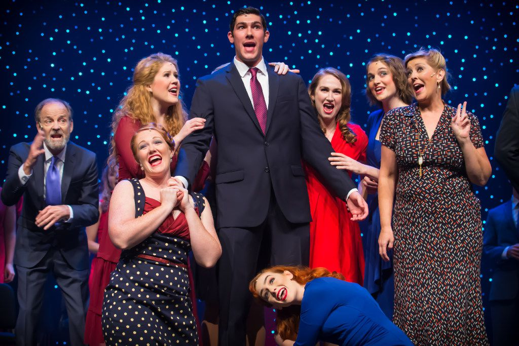Drew Shafranek stars as presidential candidate John P. Wintergreen in 'Of Thee I Sing,' presented in concert by Lyric Stage at Irving Arts Center in Irving Nov. 3-6, 2016.