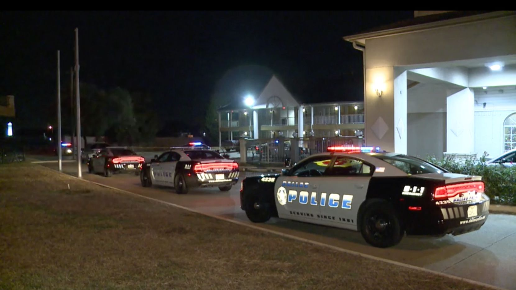 No arrests have been made in the double-shooting at the Super 8 hotel in Far East Dallas on Saturday, police said.