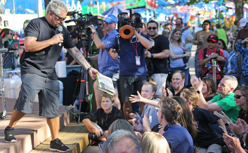 Guy Fieri is one of many celebrities who have visited the State Fair of Texas.