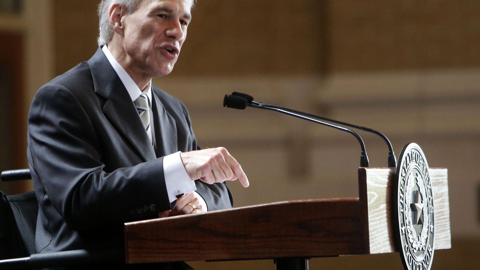 Greg Abbott, gobernador de Texas. (ROSE BACA/TDMN)
