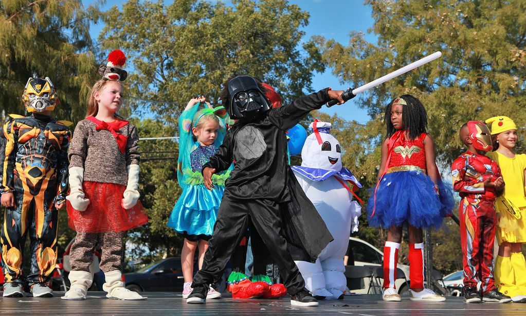 The City of Mesquite's PumpkinFest includes a children's Halloween costume contest.