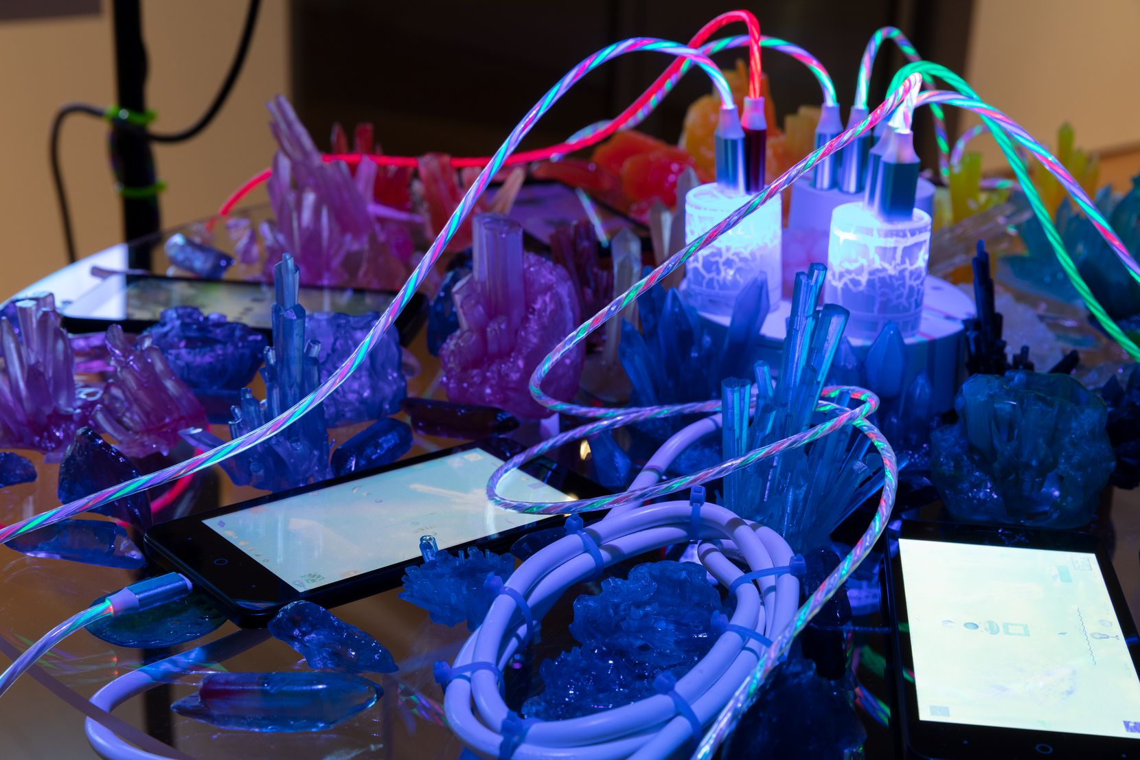 """""""Recharge"""" is part of the Nasher Sculpture Center's first new media exhibition, on view through April 25."""