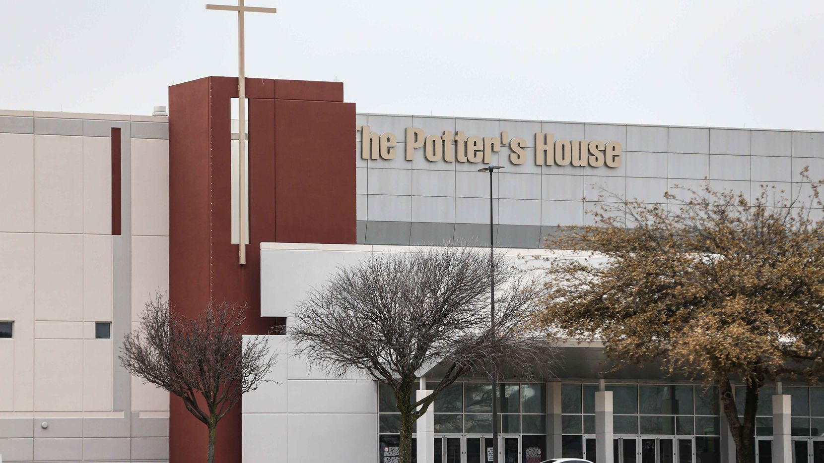 The Potter's House church across the street on Friday, February 26, 2021. The City of Dallas is planning to open a new COVID-19 vaccination site at The Potter's House church parking lot across the street in the southern part of the city sometime next week. Officials say they plan to vaccinate up to 1,000 people a day. (Lola Gomez/The Dallas Morning News)