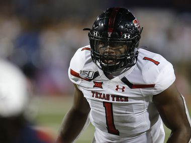 Texas Tech linebacker Jordyn Brooks (1) during an NCAA football game against Arizona on Saturday, Sept. 14, 2019 in Tuscon, Ariz.