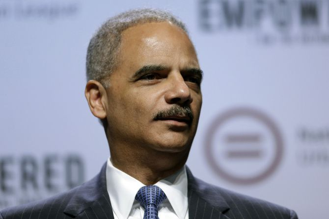 "Former U.S. Attorney General Eric Holder says Republicans are waging a ""multi-pronged war on democracy"" through bills at Legislatures that aim to restrict voting."