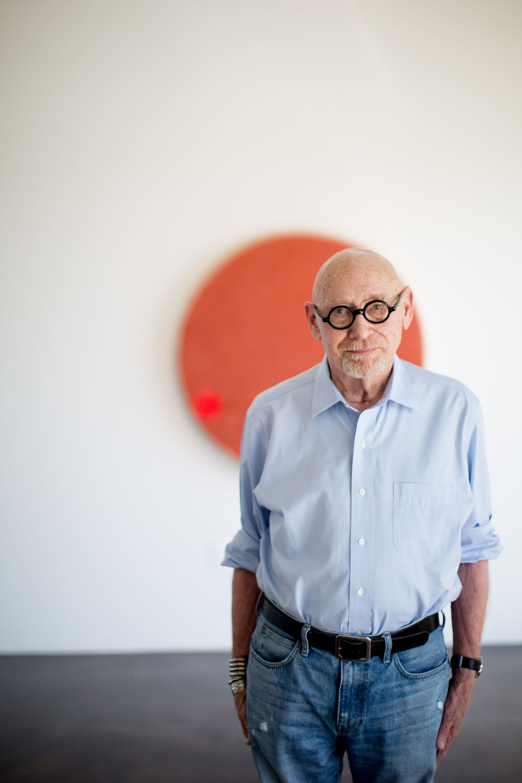 A portrait of artist Otis Jones in the Barry Whistler Gallery in Dallas. (Allison V. Smith/Special Contributor)