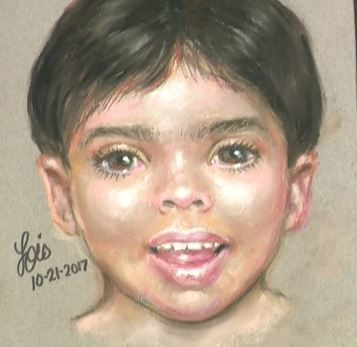 The sketch of Little Jacob went up on billboards across Texas.