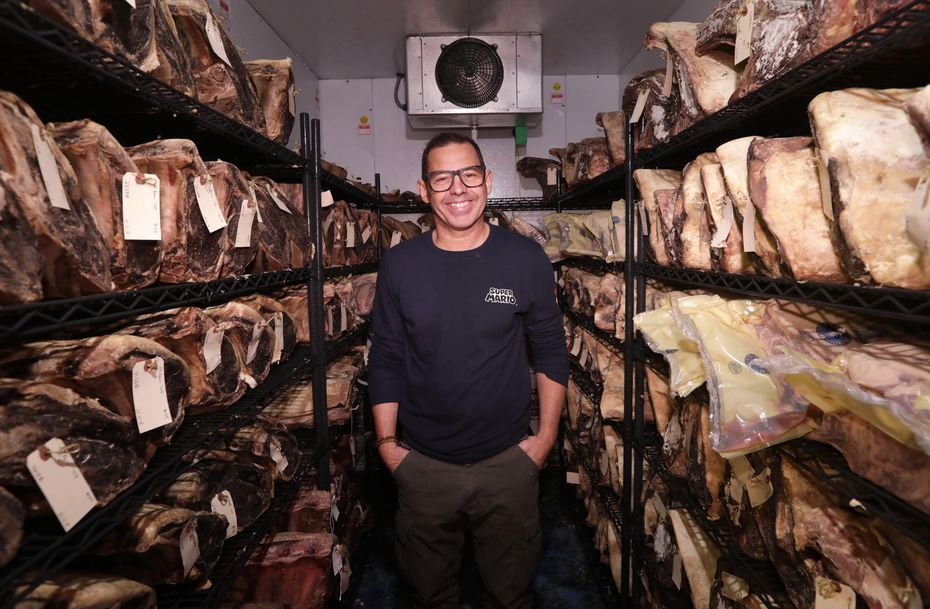 Executive chef John Tesar is expanding his restaurant Knife to other cities. Here he is in 2018 inside the dry-age room at Knife in Plano.