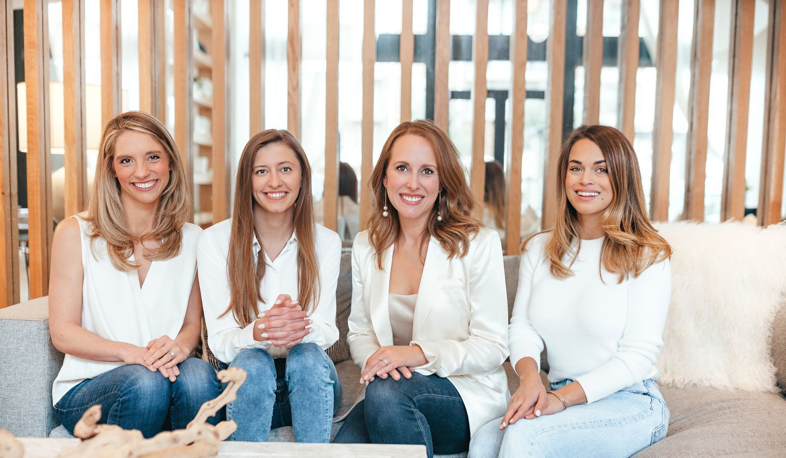 Dr. Lyndsey Harper (center right), a Dallas-based OB/GYN, mom to three, and founder and CEO of sexual wellness app Rosy, alongside her team.