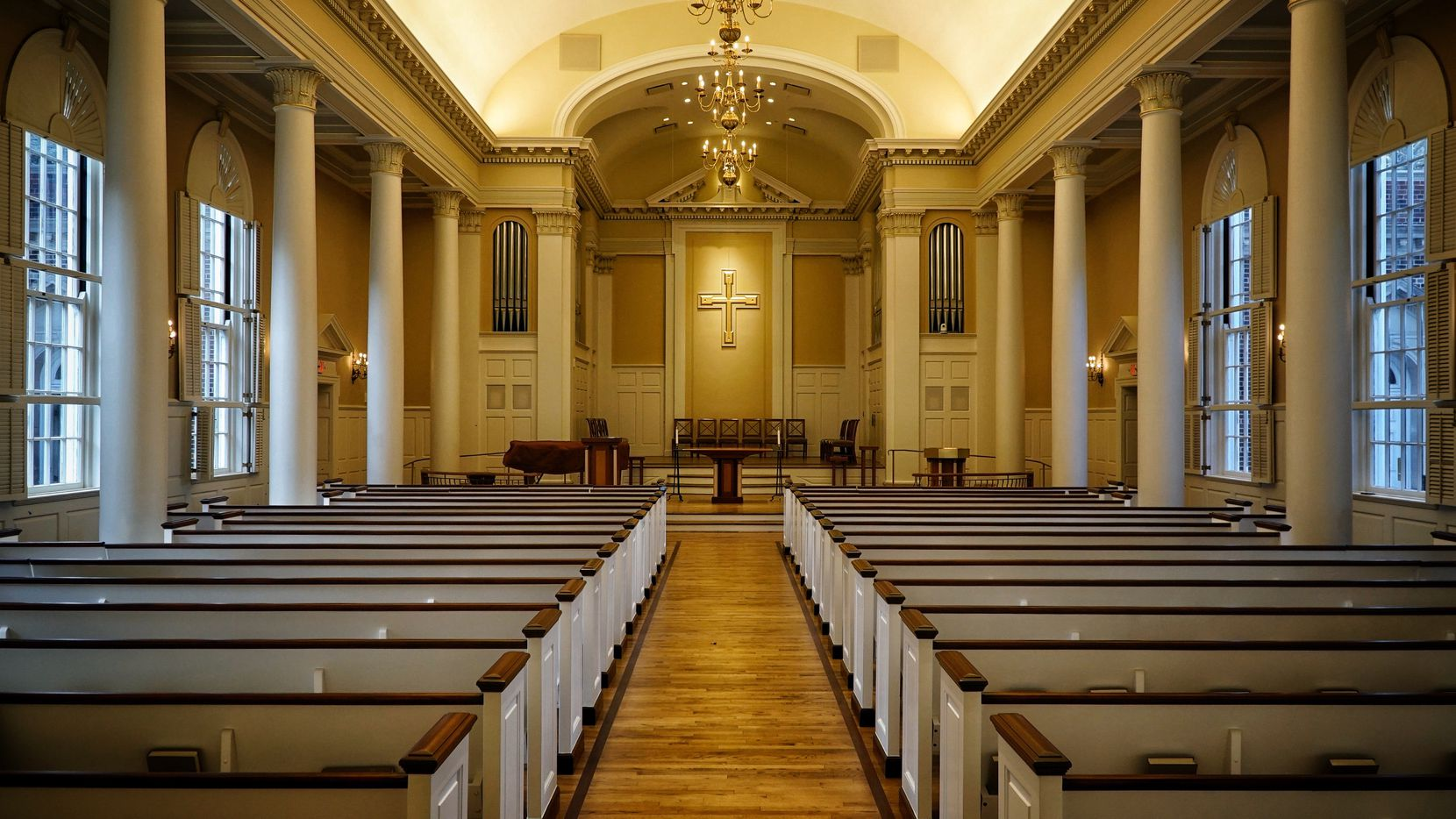 The interior of Perkins Chapel on the SMU campus, where the Perkins School of Theology has turned out generations of Methodist ministers.