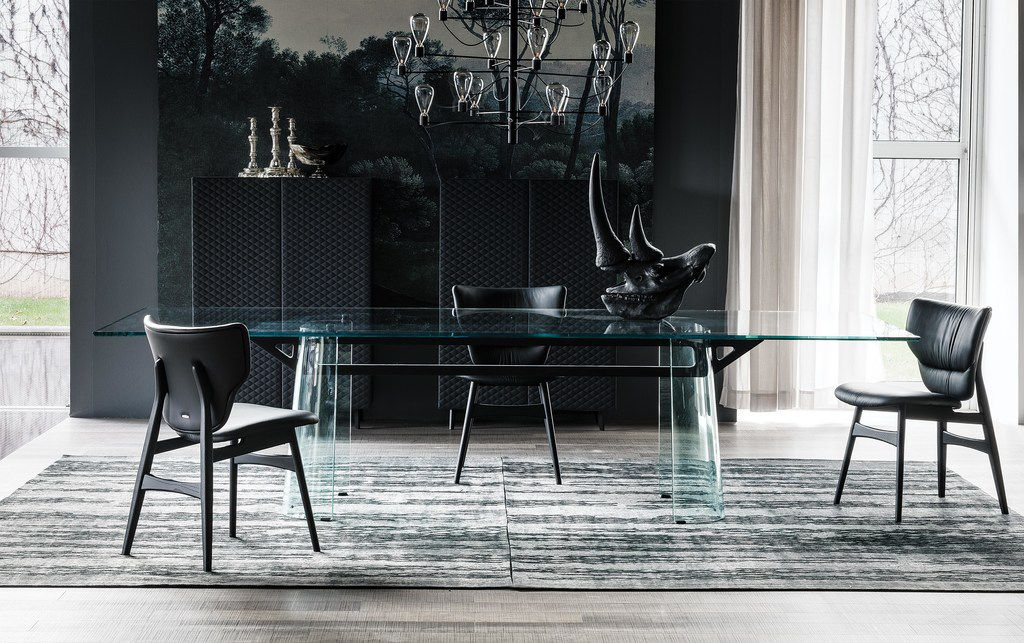 The to-the-trade-only Cantoni showroom features  a collection of mostly Italian furnishings, many exclusive to the Texas market, such as the kLirr Dining Table by Cattelan Italia.