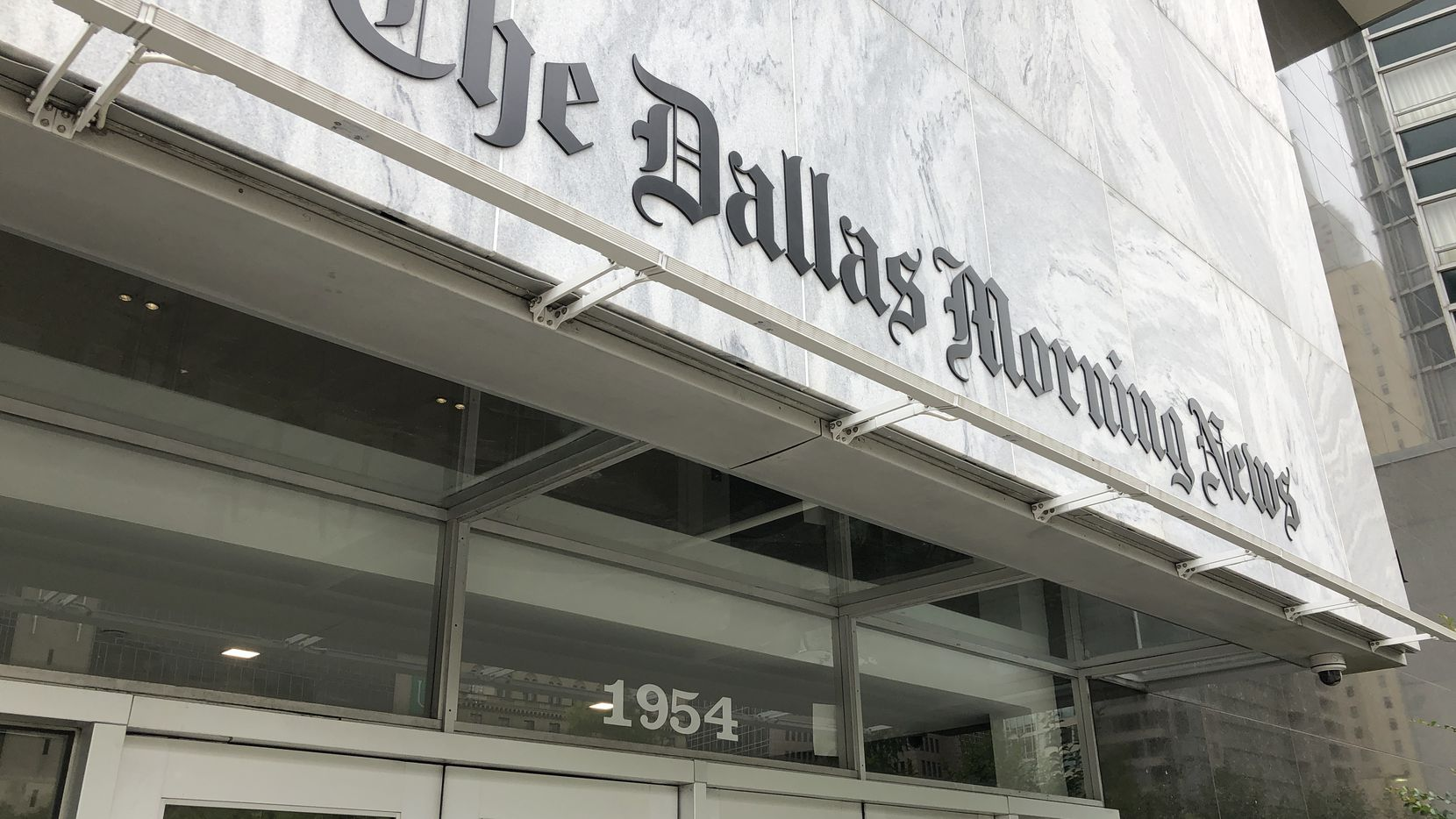 The Dallas Morning News headquarters is on Commerce Street in downtown Dallas.