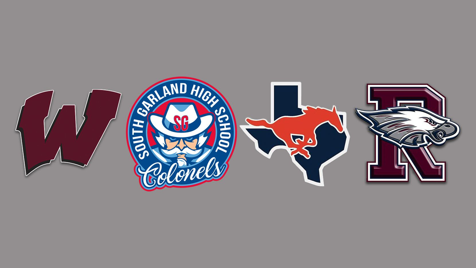 Logos for Wylie, South Garland, Sachse and Rowlett.