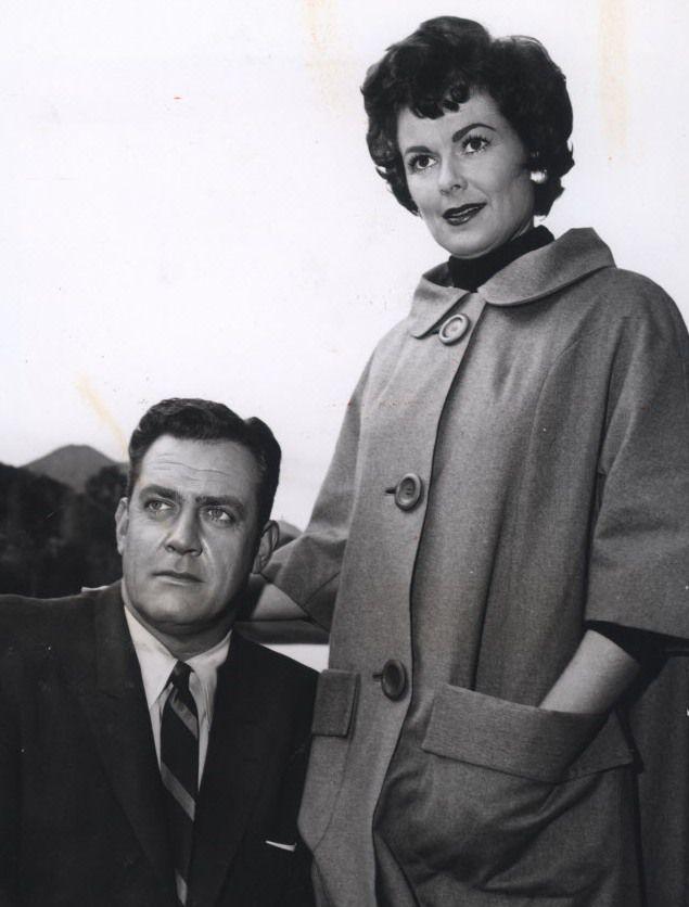 Barbara Hale (with Perry Mason co-star Raymond Burr) died Jan. 26. (File photo)