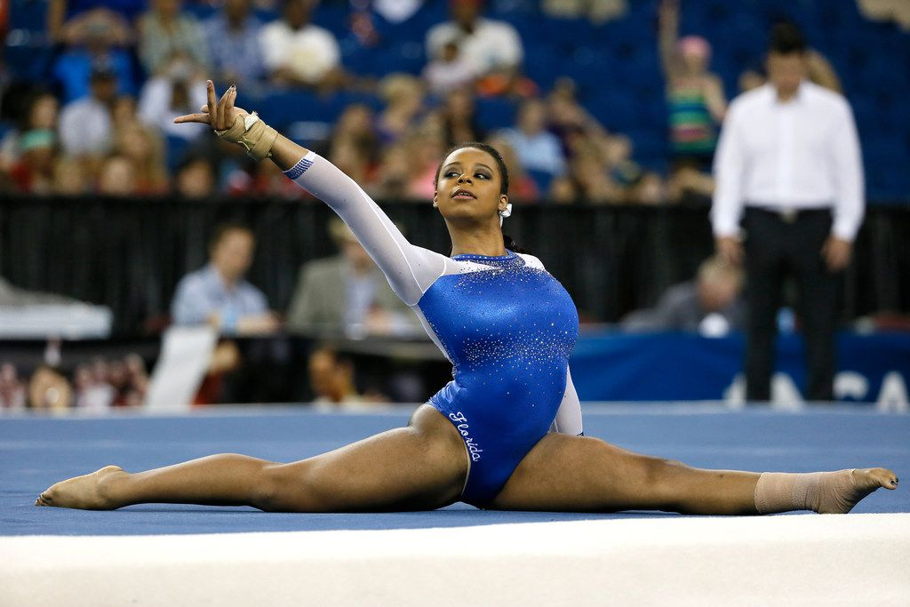 Florida's Kennedy Baker competed on the floor exercise during the NCAA women's gymnastics championships  on April 18, 2015, in Fort Worth.
