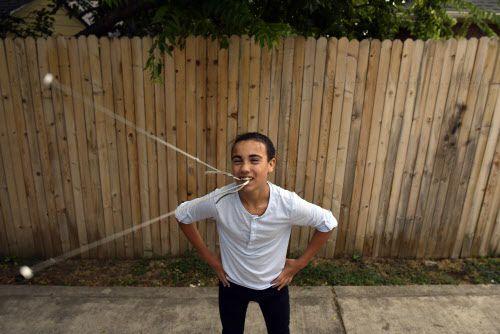 Thiago Rivas, de 13 años, es integrante de La Tropilla Malambo. Foto BEN TORRES/Especial para AL DÍA
