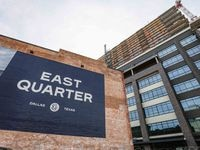 The East Quarter construction site at Cesar Chavez Boulevard and Jackson Street in downtown Dallas.