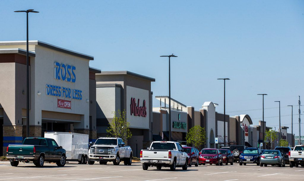 Retail stores are open near a new IKEA on Monday, March 25, 2019 at the intersection of State Highway 161 and Mayfield Road in Grand Prairie. (Ashley Landis/The Dallas Morning News)