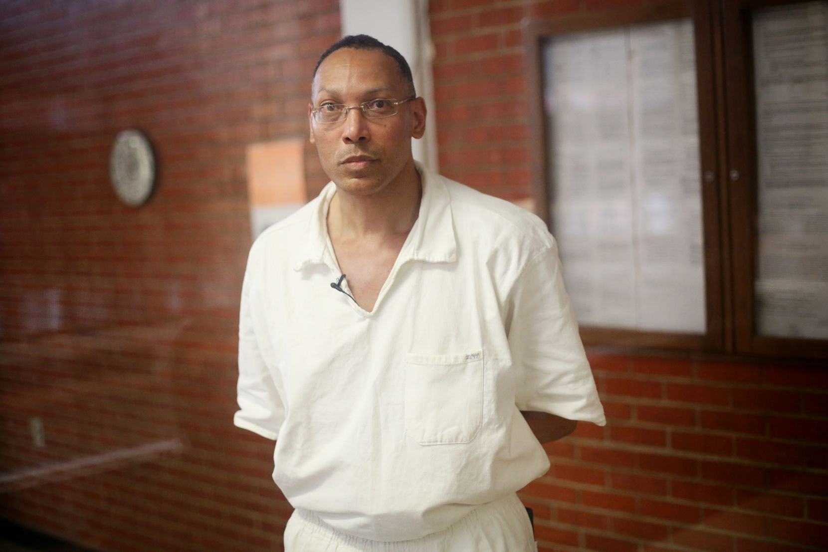 Ben Spencer, who maintains his innocence, is serving a life sentence after being arrested in March 1987 for the robbery and killing of Dallas business owner Jeffrey Young. He was photographed after an interview with The Dallas Morning News reporter Jennifer Emily at the Coffield Unit of TDCJ in Tennessee Colony, Texas, in 2017.