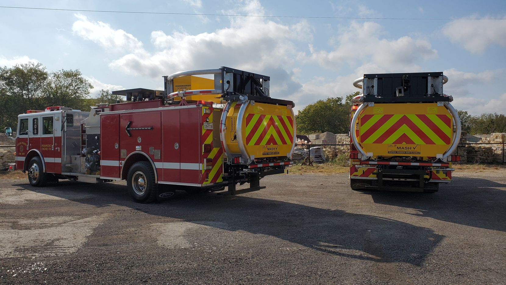 Two GPFD trucks will be outfitted with truck-mounted attenuators (TMAs).
