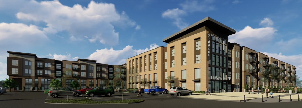 The apartments are planned across from the Cinemark theater at S.H. 121 and Watters Road.