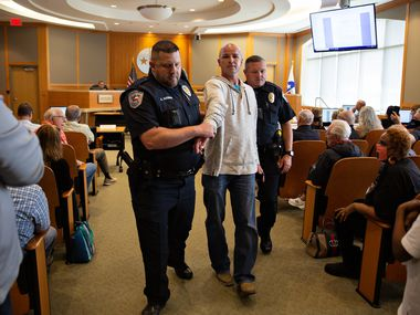 Over a hundred people came to observe and speak at the Collin County Commissioners Court meeting at the Collin County Administration Building in McKinney, TX on Monday, May 24, 2021.