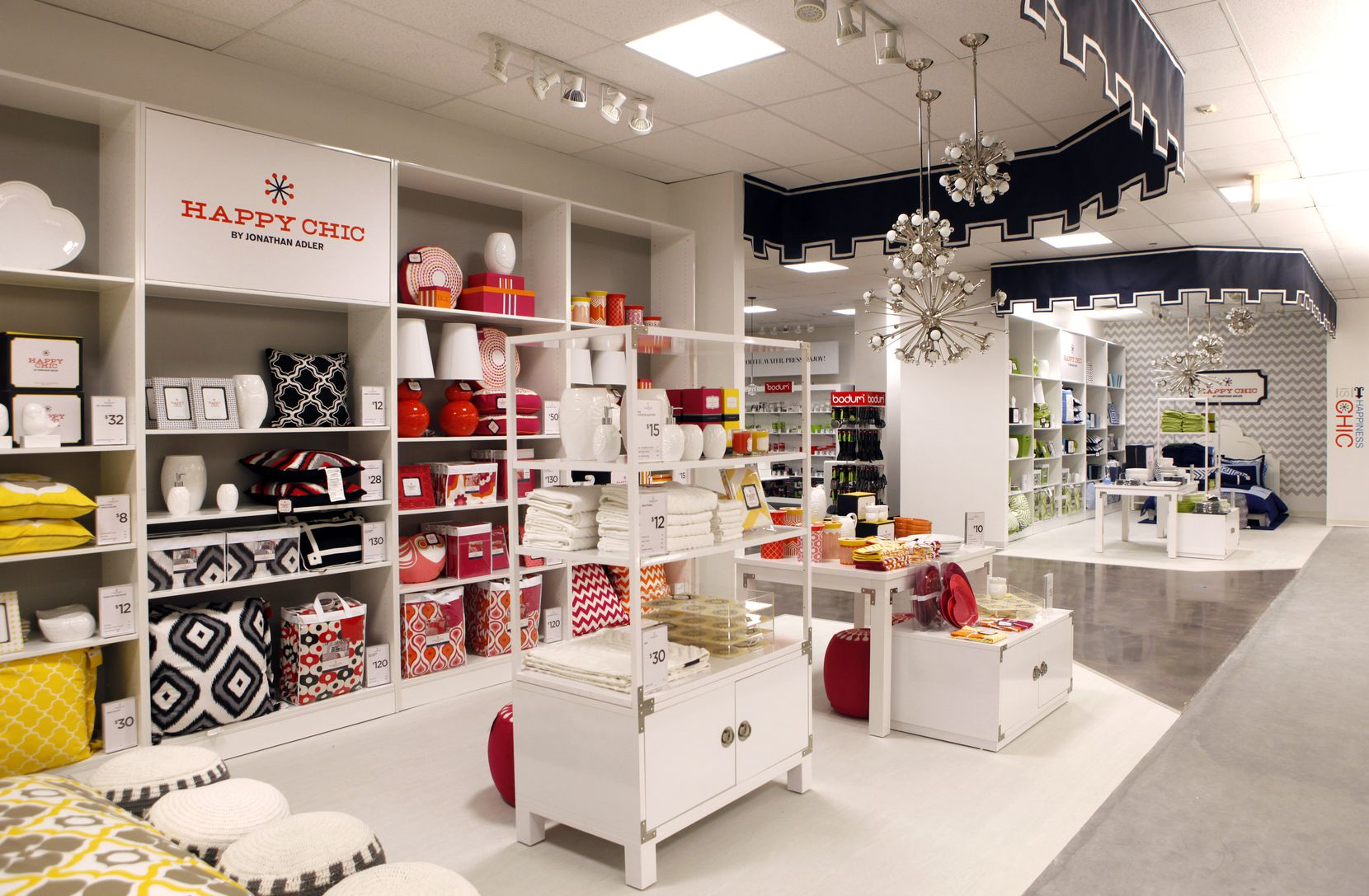 Happy Chic By Jonathan Adler was one of the shops added inside J.C. Penney stores during Ron Johnson's tenure as CEO. This one was at Stonebriar Centre in Frisco in 2013. Other shops were from Bodum, Jonathan Adler, Michael Graves and Martha Stewart.