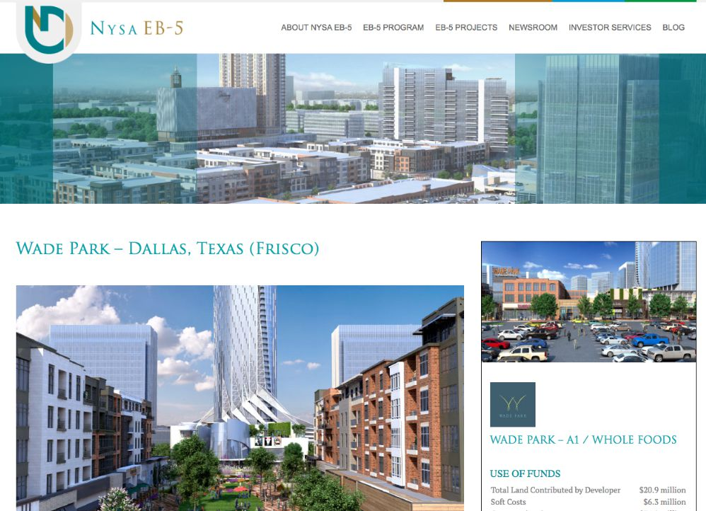 Atlanta-based firm NYSA EB-5 helps foreign investors provide funding for U.S. real estate deals, including Wade Park.