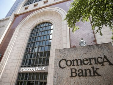 In June, Comerica had about 1,150 employees in North Texas, including at corporate headquarters in downtown Dallas. But job cuts are coming. (Rose Baca/The Dallas Morning News)