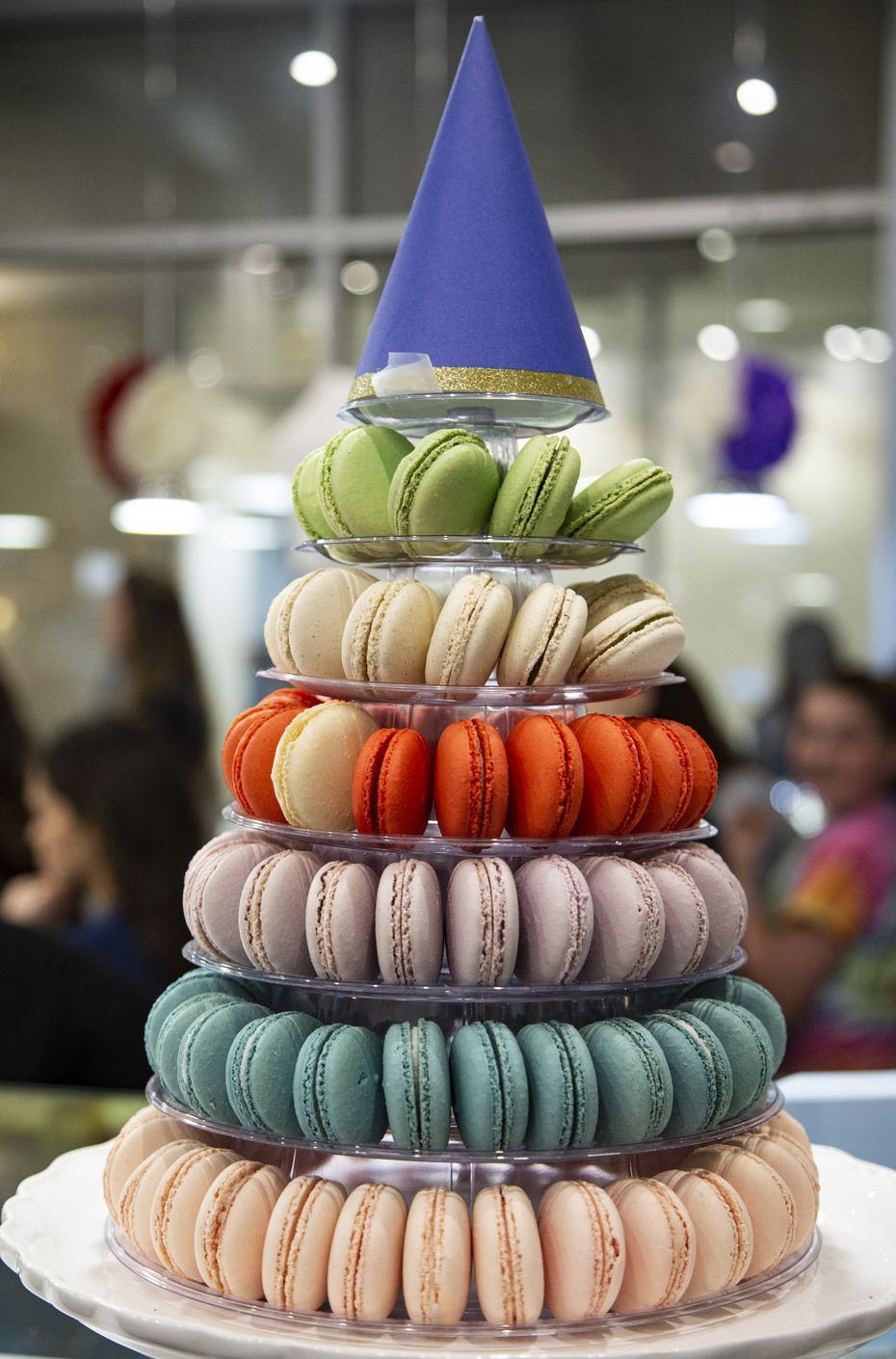 Macarons were on display at Bisous Bisous Patisserie's fifth anniversary celebration in February.