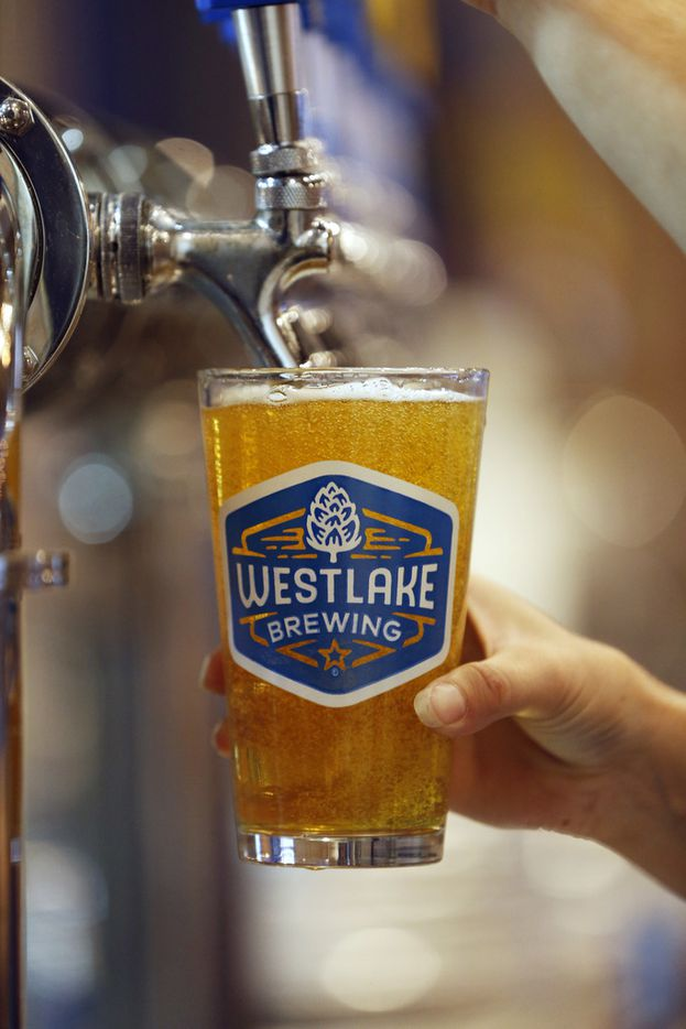 Westlake Brewing Co. serves a variety of beer styles, including a wheat beer, hazy IPA and saison.