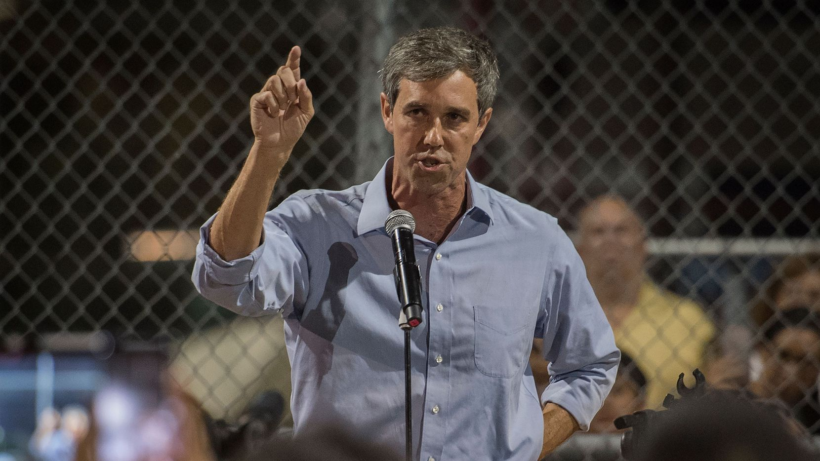 Democratic presidential hopeful and former US Representative for Texas' 16th congressional district Beto O'Rourke speaks to the crowd during a prayer and candle vigil organized by the city, after a shooting left 20 people dead at the Cielo Vista Mall WalMart in El Paso, Texas, on August 4, 2019. - A shooting at a Walmart store in Texas left multiple people dead. At least one suspect was taken into custody after the shooting in the border city of El Paso, triggering fear and panic among weekend shoppers as well as widespread condemnation.