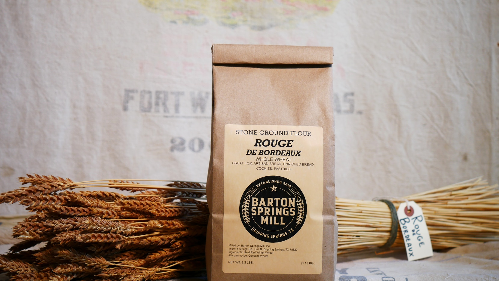 Flours and other grains from Barton Springs Mill are now available retail.