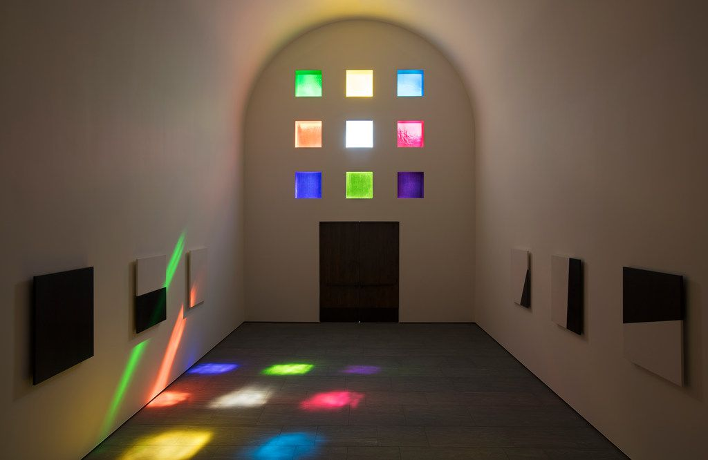 The interior, facing south, of Ellsworth Kelly's Austin