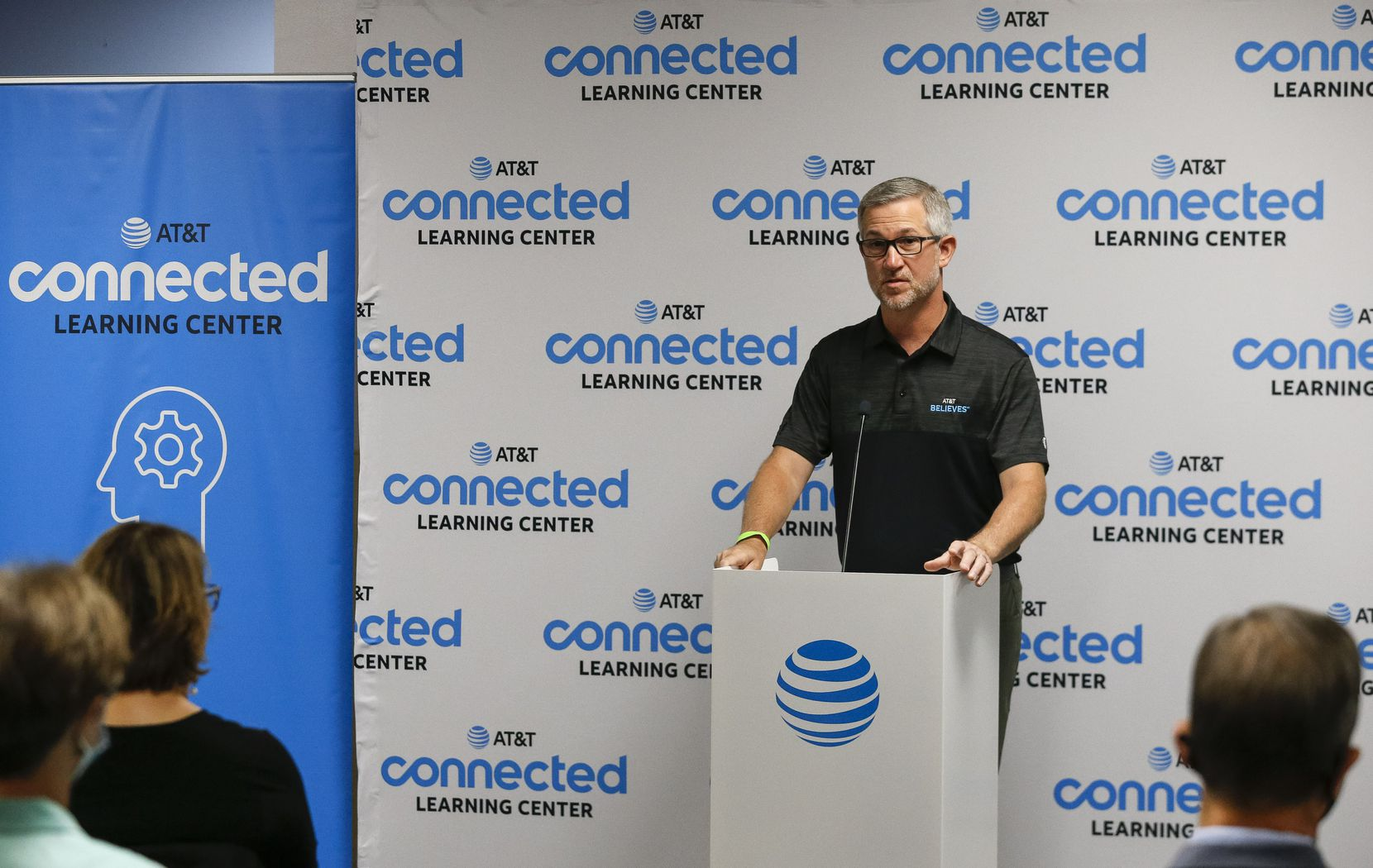 AT&T Communications CEO Jeff McElfresh spoke during the opening of the Connected Learning Center at Family Gateway.