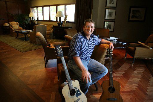 Kelcy Warren, financial backer of a new Austin-based record label Music Road, photographed at his office in Dallas in 2009. (Melanie Burford/The Dallas  Morning News)