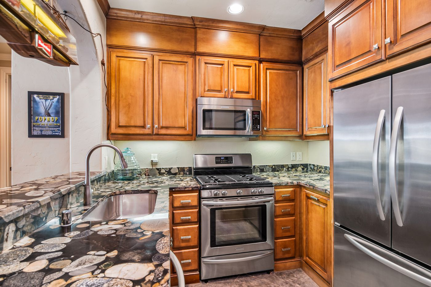 The second kitchen at 3 Stonebriar Way in Frisco, TX.