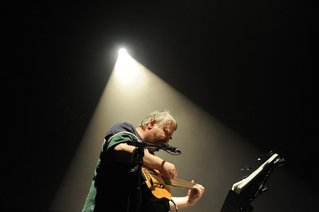 In this file photo taken on April 17, 2010, Daniel Johnston performs in Bourges, during the 34th edition of Le Printemps De Bourges rock pop festival.