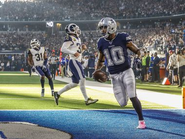 El receptor de Dallas Tavon Austin (10) anotó un touchdown en el partido entre Cowboys y los Rams de Los Ángeles, el 15 de diciembre en el AT&T Stadium de Arlington, Texas.