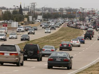 Traffic is pictured on Preston Road north of Highway 161 in Frisco.