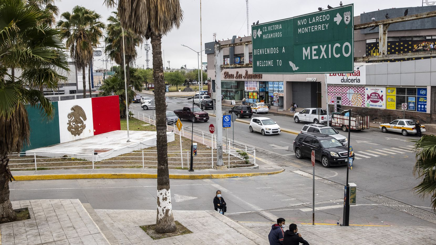 The plaza near the international bridge leading into Reynosa, in Mexico. Although the U.S. continues to expel migrants under Title 42 — a pandemic-related public order still in place and left over from the Trump administration -- the Mexican government in Tamaulipas is not allowing the return of expelled migrant families with children age six or under.