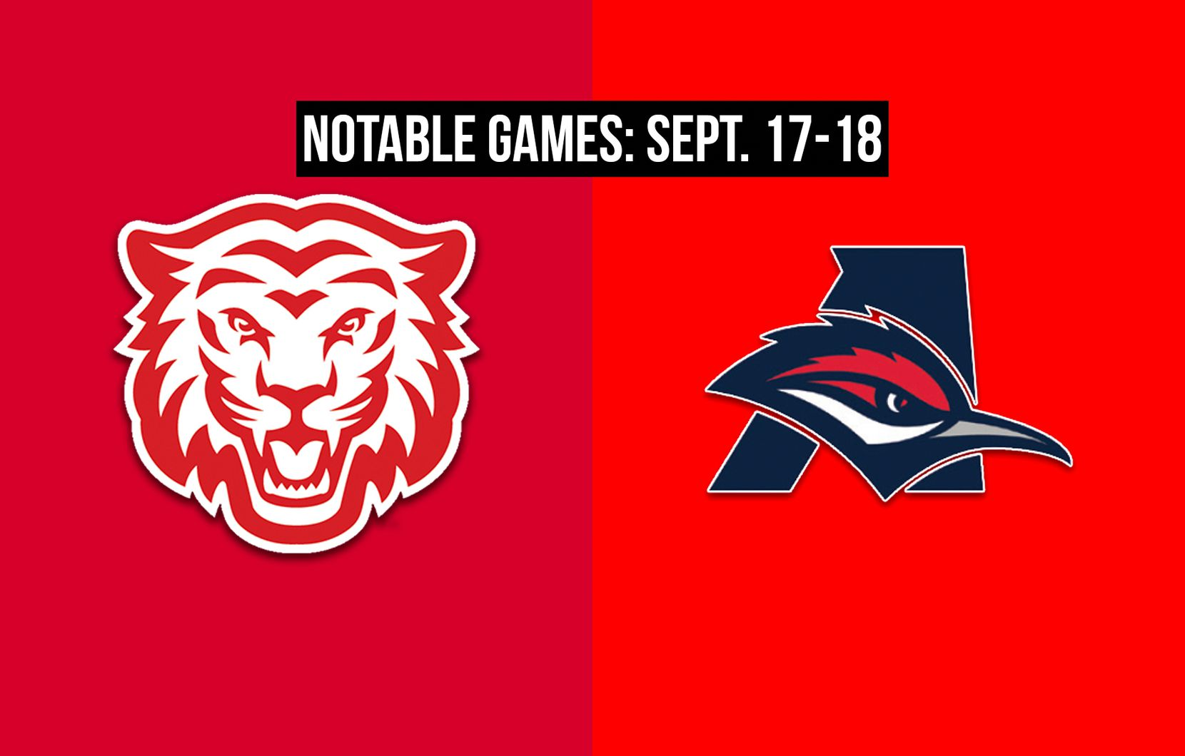 Notable games for the week of Sept. 17-18 of the 2020 season: Terrell vs. Aubrey.