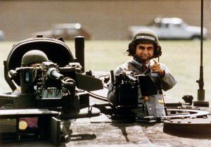 The image of thehelmeted Michael Dukakis proved to be the ultimate in what not to wear for presidential candidates. (File)