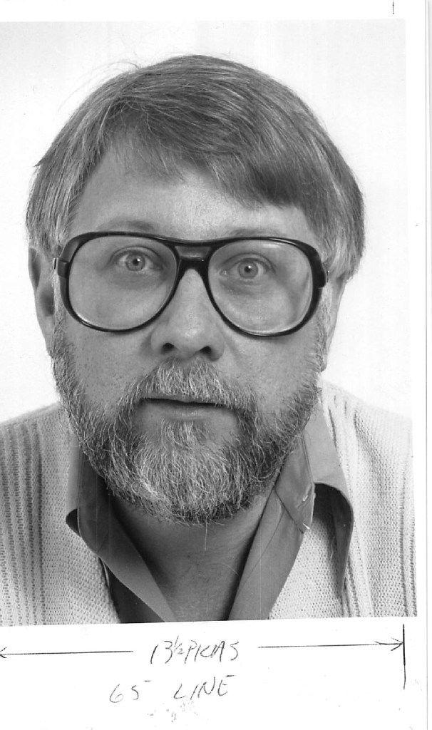 Portrait of DMN music critic John Ardoin, dated May 1982.