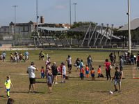 Children involved in YMCA-sponsored soccer played Saturday at Willis Winters Park in East Dallas. This soccer field, also used for DISD athletics practices,  is where a group is proposing to build a stadium that would seat up to 4,000 fans.